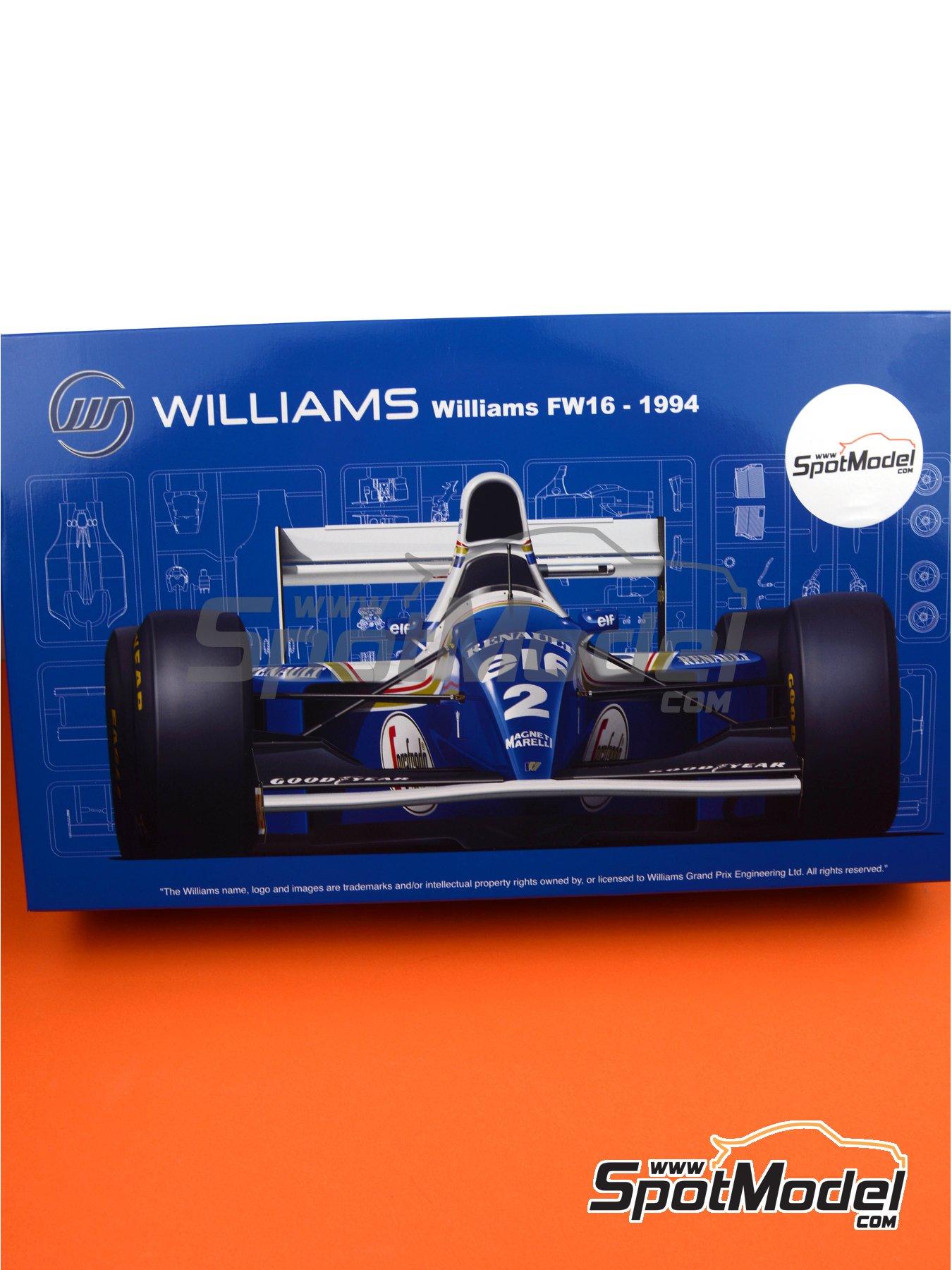 Williams Renault FW16 ELF - Gran Premio de Fórmula 1 de Brasil, Gran Premio de Fórmula 1 de San Marino, Gran Premio de Fórmula 1 del Pacifico 1994 | Maqueta de coche en escala1/20 fabricado por Fujimi (ref.FJ092126, tambien GP-24, 09212 y FJ09212) image