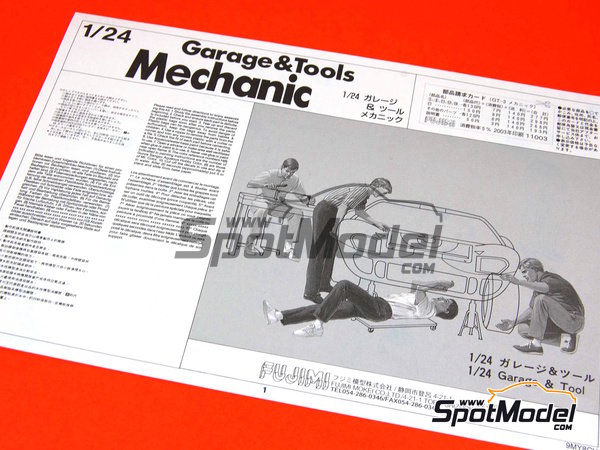 Image 4: Mechanics | Figures set in 1/24 scale manufactured by Fujimi (ref. FJ11003)