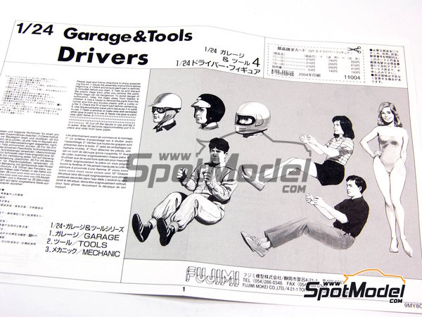 Image 3: Drivers | Figures set in 1/24 scale manufactured by Fujimi (ref. FJ110042)