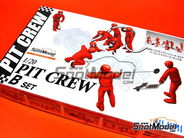 Image 1: Pit crew - B | Figures set in 1/20 scale manufactured by Fujimi (ref.FJ11245)