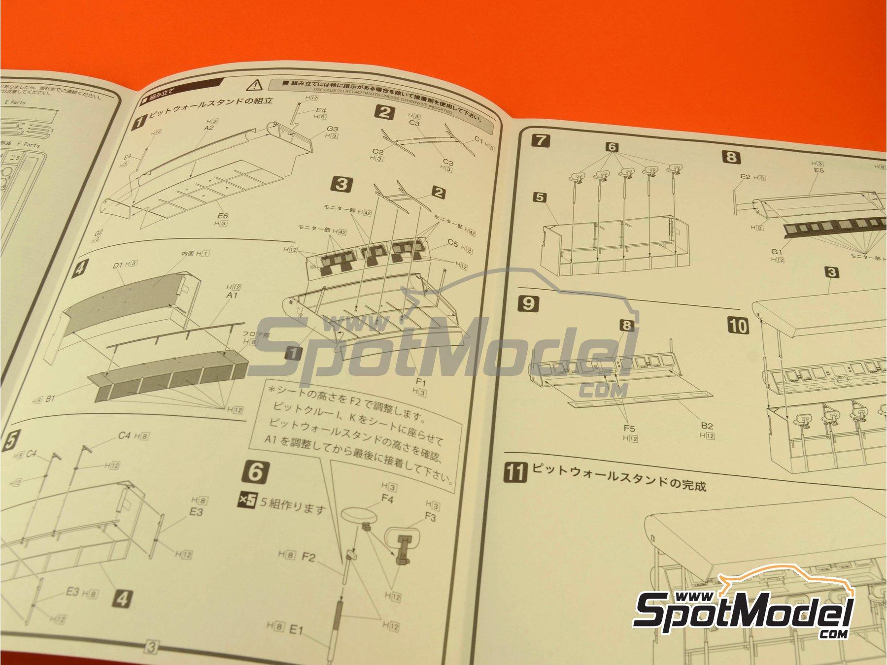 Image 9: Equipo de dirección y cabina | Set de figuras en escala1/20 fabricado por Fujimi (ref.FJ113326)