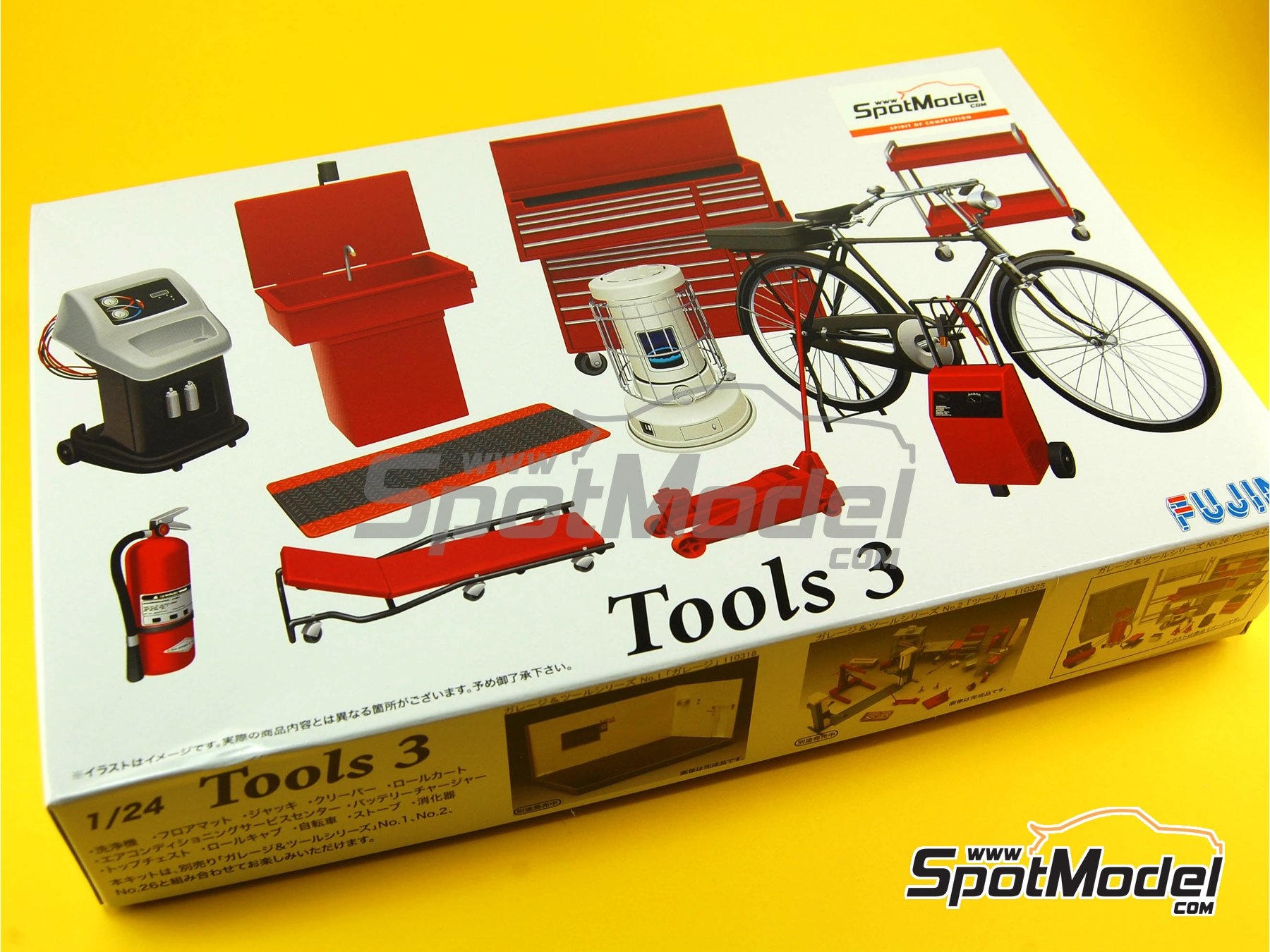 Image 1: Tools - Set 3   Model kit in 1/24 scale manufactured by Fujimi (ref.FJ113739, also 113739 and GT27)