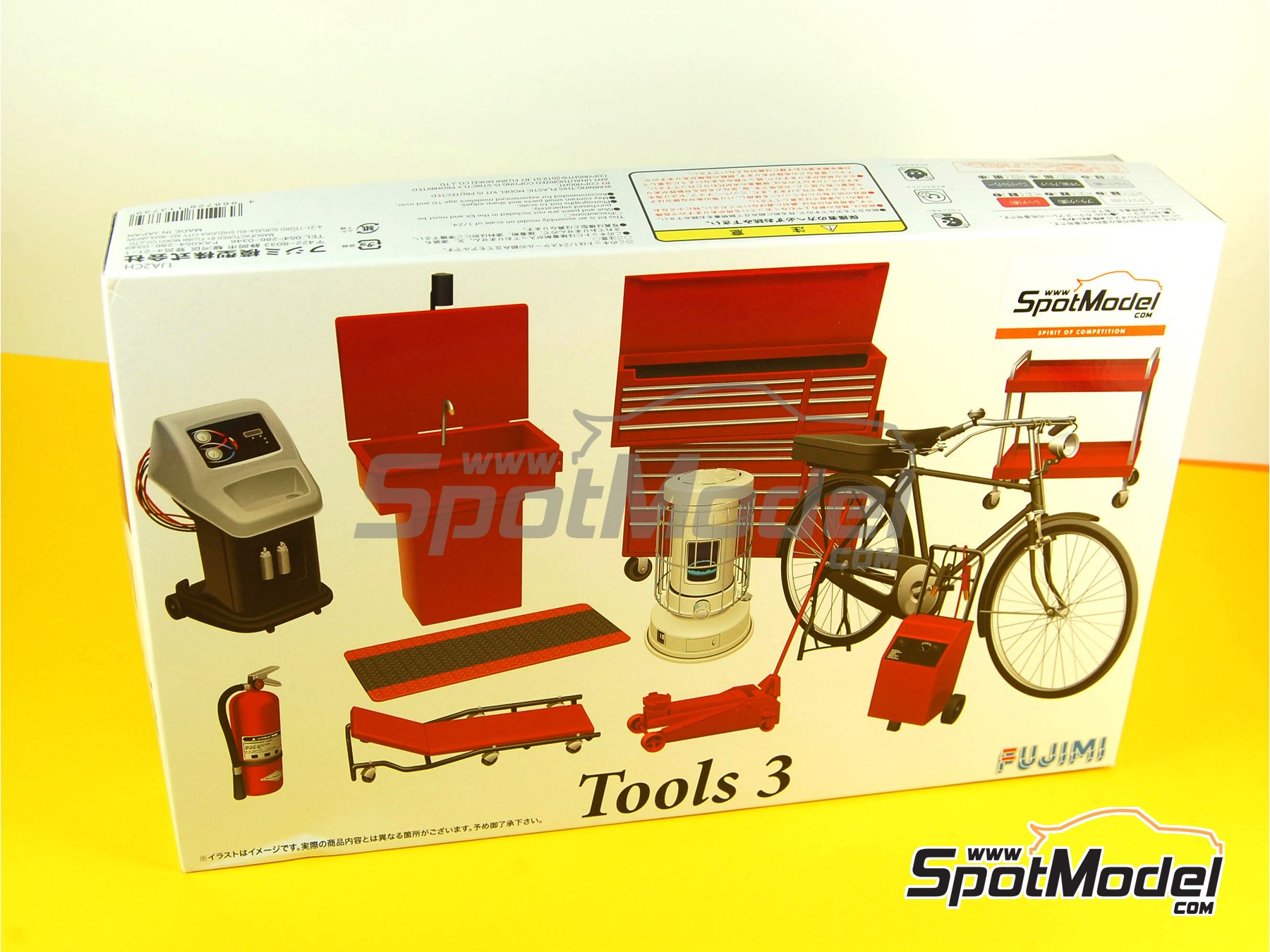 Image 8: Tools - Set 3   Model kit in 1/24 scale manufactured by Fujimi (ref.FJ113739, also 113739 and GT27)