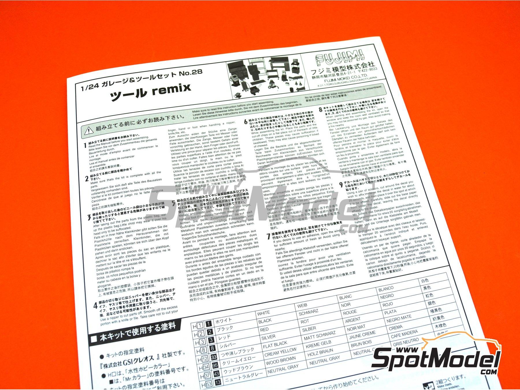 Image 6: Set de Herramientas | Maqueta en escala1/24 fabricado por Fujimi (ref.FJ114392, tambien 114392, 11439 y GT-28)