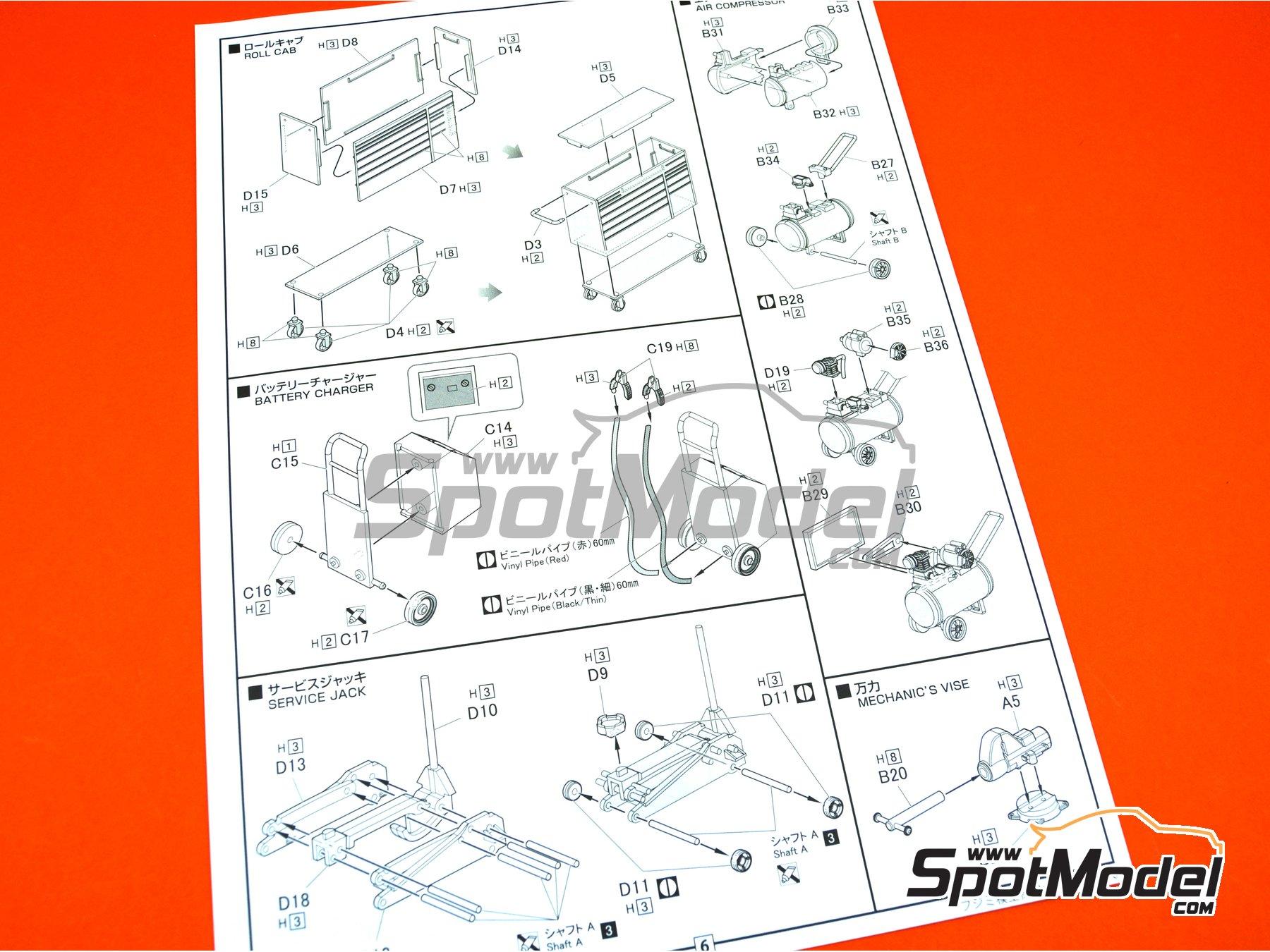 Image 8: Set de Herramientas | Maqueta en escala1/24 fabricado por Fujimi (ref.FJ114392, tambien 114392, 11439 y GT-28)