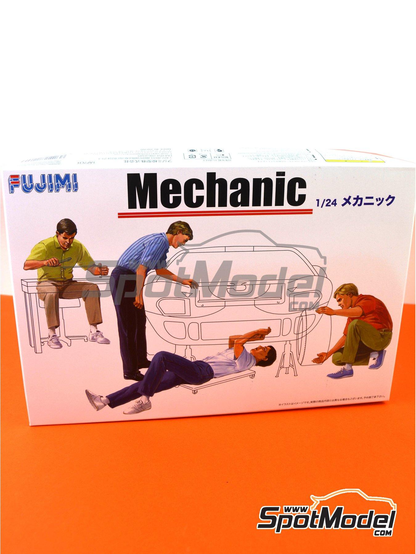 Mecanicos | Set de figuras en escala1/24 fabricado por Fujimi (ref.FJ114903) image