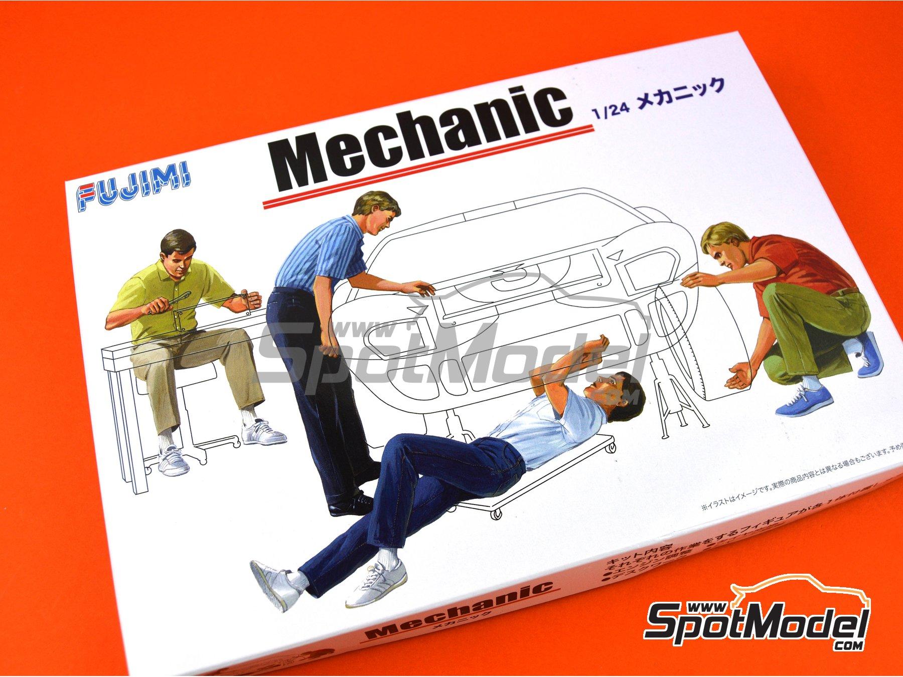 Image 3: Mechanics | Figures set in 1/24 scale manufactured by Fujimi (ref.FJ114903)