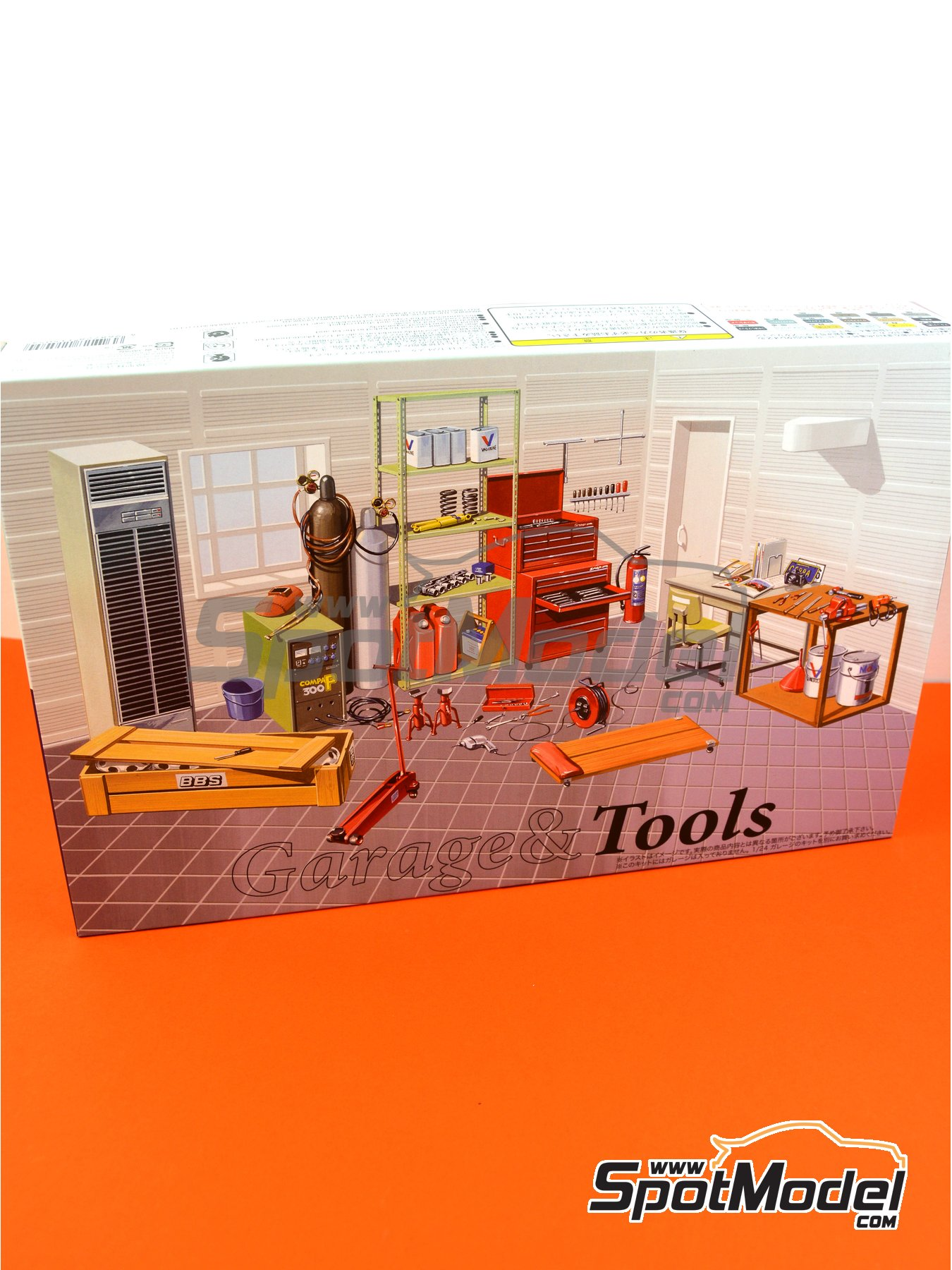 Tools | Model kit in 1/24 scale manufactured by Fujimi (ref. FJ115054, also 115054 and GT-2) image