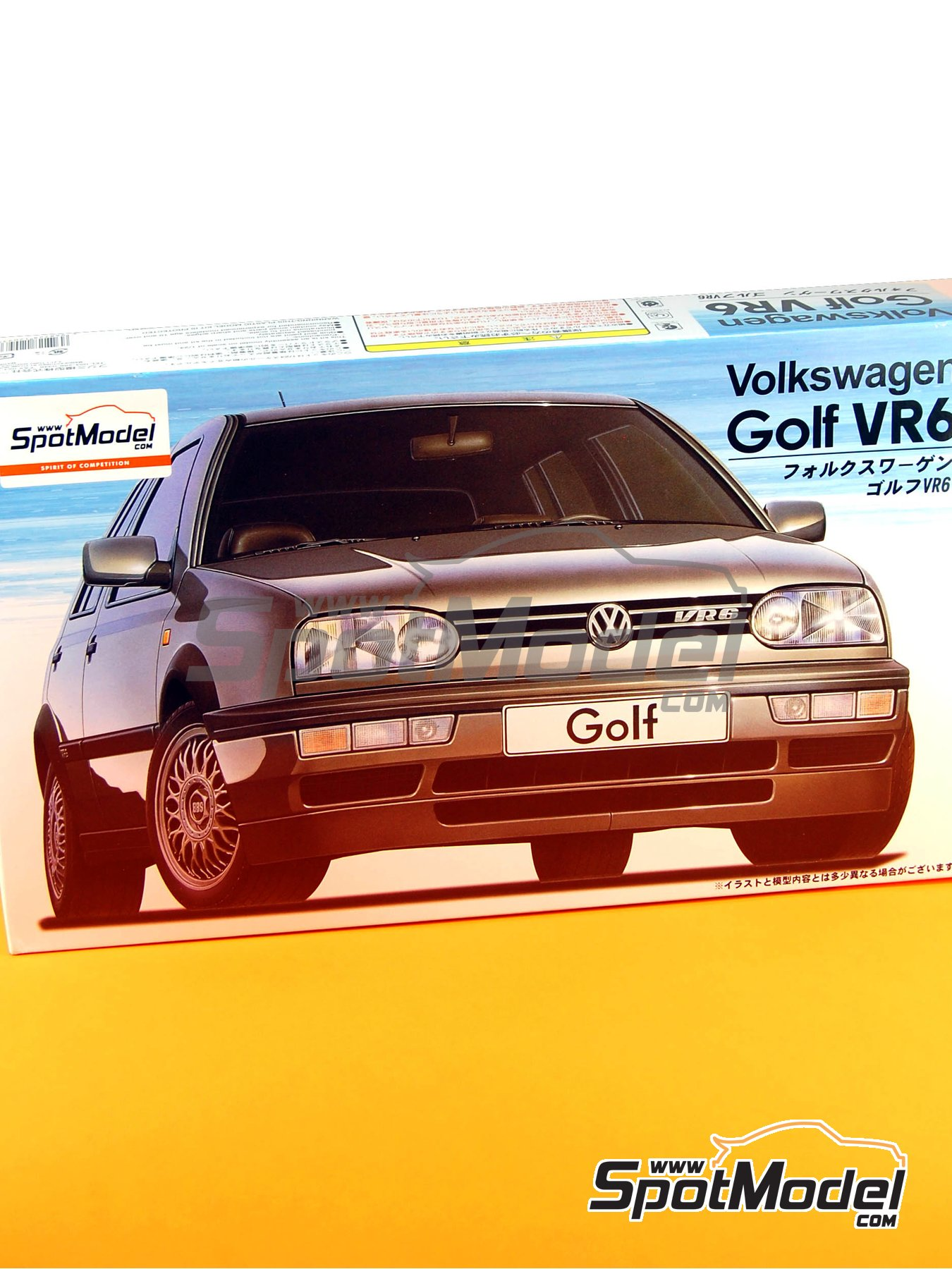 Volkswagen Golf VR6 | Model car kit in 1/24 scale manufactured by Fujimi (ref. FJ12093, also 12093 and 120935) image