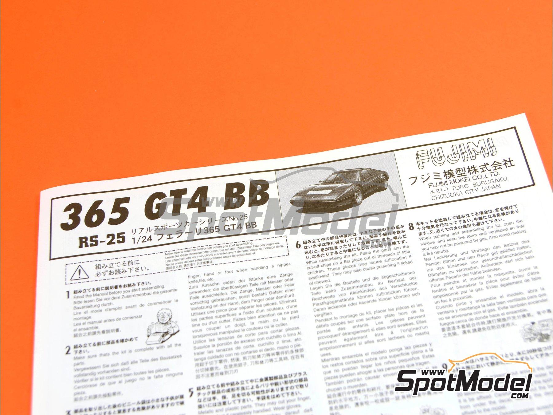 Image 10: Ferrari 365 GT4 BB | Maqueta de coche en escala1/24 fabricado por Fujimi (ref.FJ122809, tambien 122809 y RS-25)