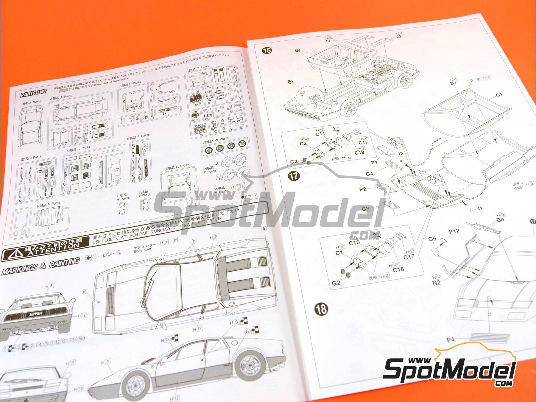 Image 12: Ferrari 365 GT4 BB | Maqueta de coche en escala1/24 fabricado por Fujimi (ref.FJ122809, tambien 122809 y RS-25)