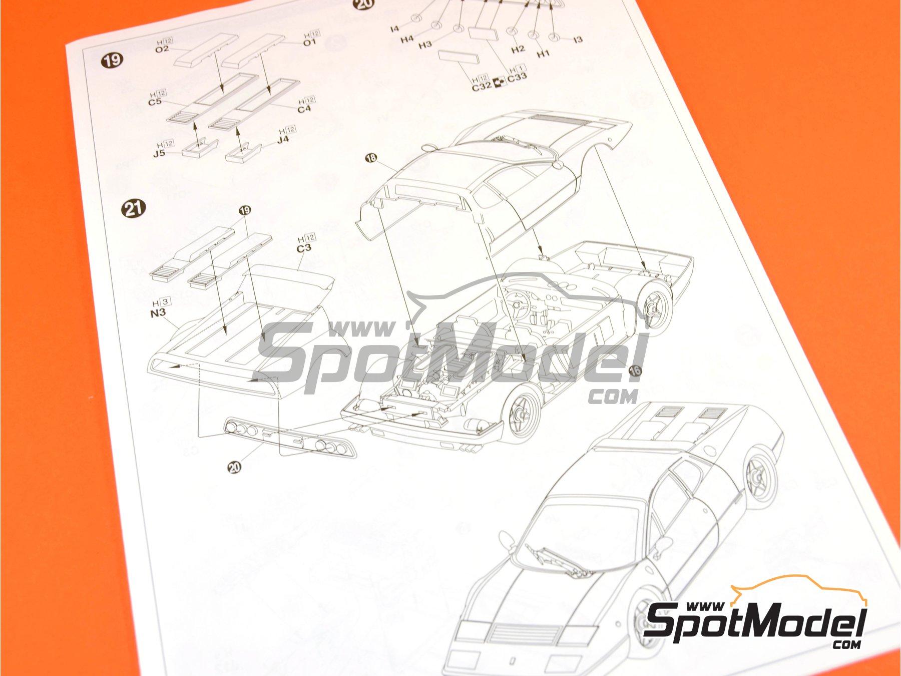 Image 13: Ferrari 365 GT4 BB | Maqueta de coche en escala1/24 fabricado por Fujimi (ref.FJ122809, tambien 122809 y RS-25)