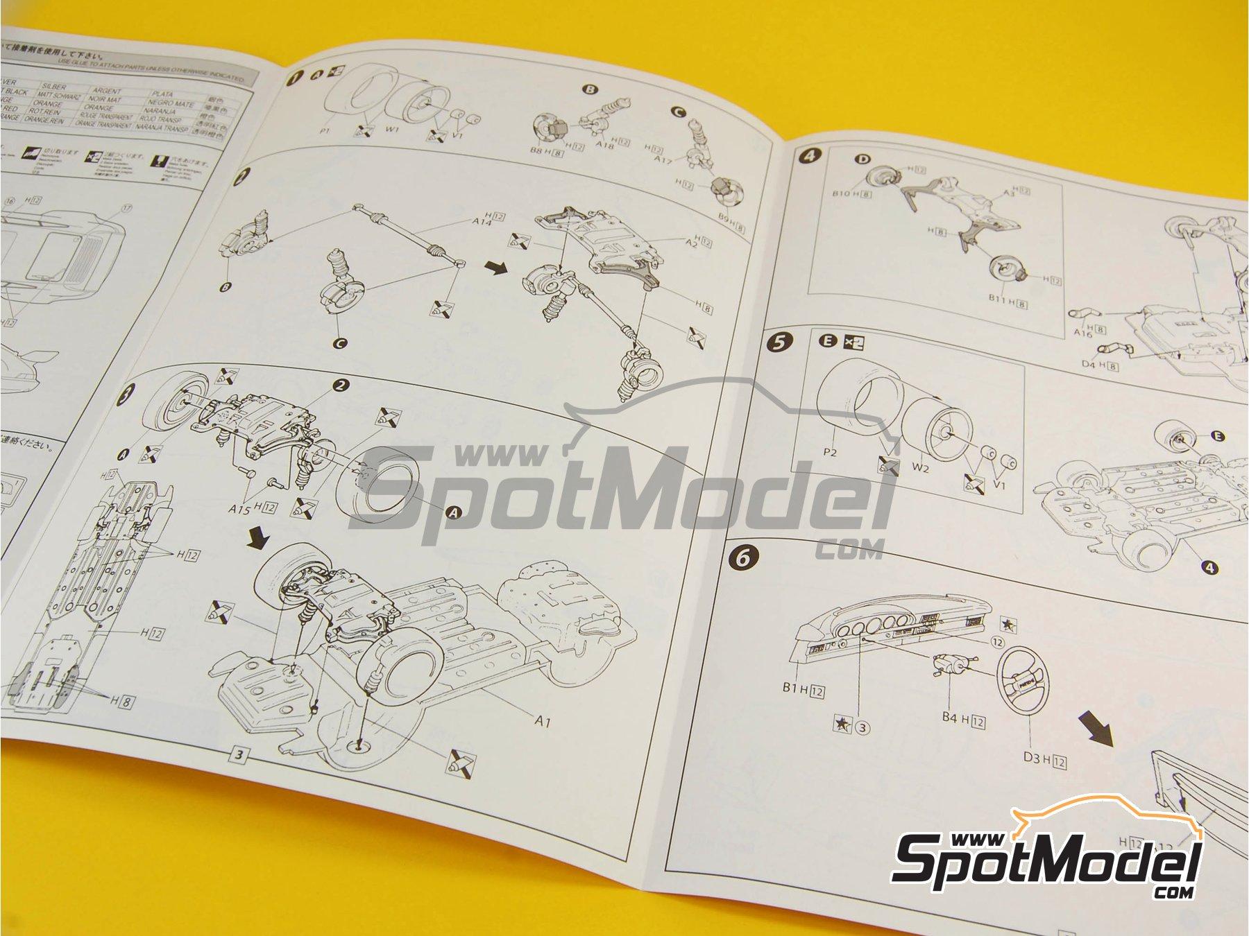 Image 13: Porsche 911 964 Carrera 3.8 RSR | Maqueta de coche en escala1/24 fabricado por Fujimi (ref.FJ123110, tambien 123110)