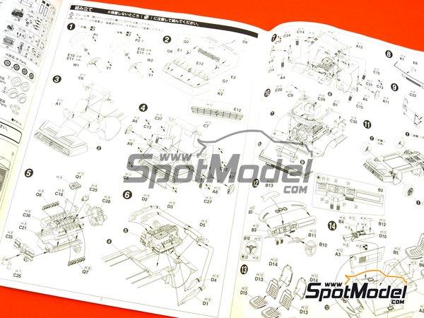 Image 14: Ferrari 512BB | Model car kit in 1/24 scale manufactured by Fujimi (ref.FJ123301)