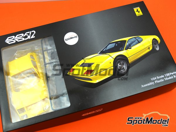 Image 17: Ferrari 512BB | Model car kit in 1/24 scale manufactured by Fujimi (ref.FJ123301)