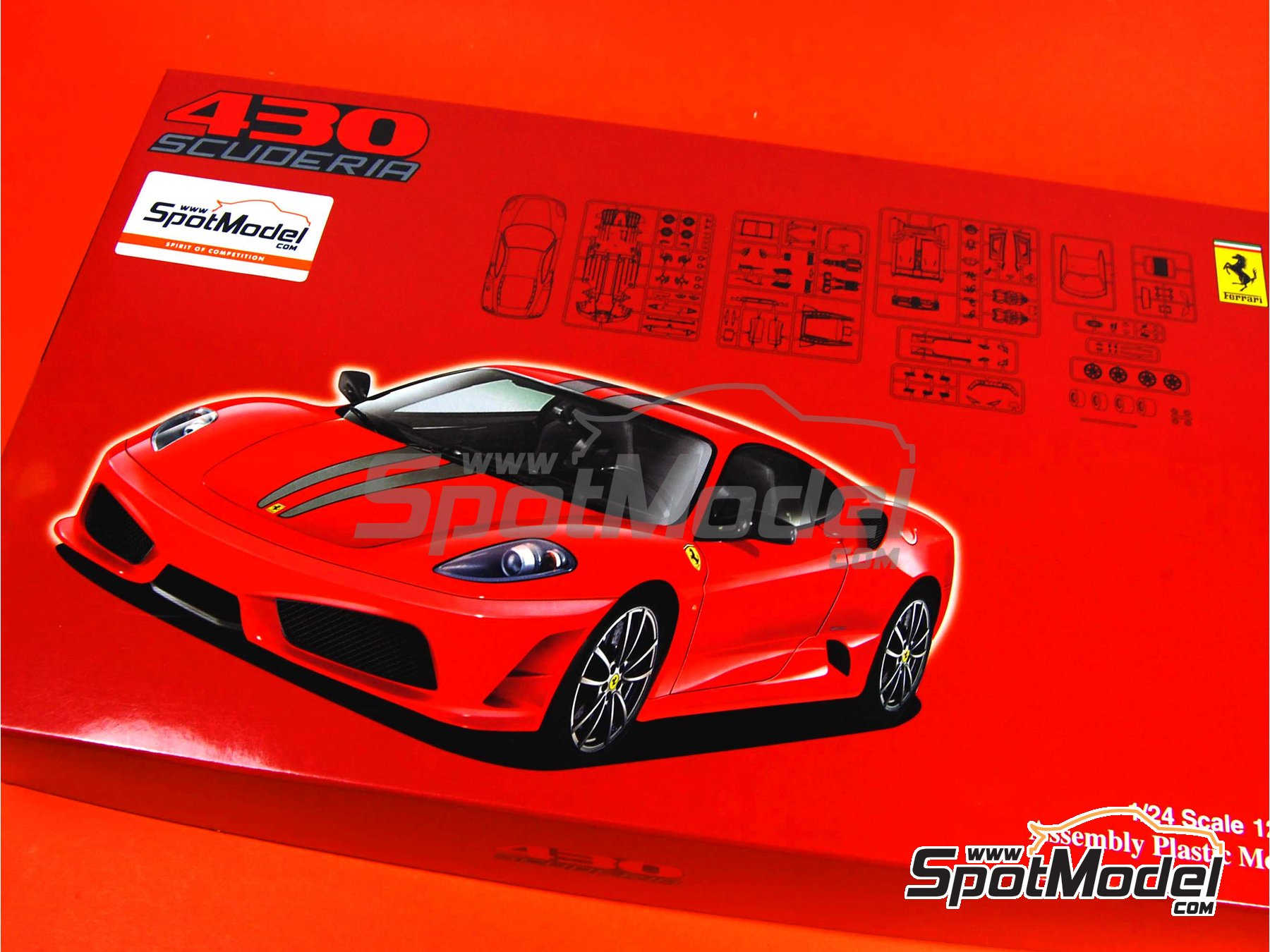 Image 1: Ferrari F430 Scuderia | Model Car Kit In 1/24 Scale Manufactured  ...