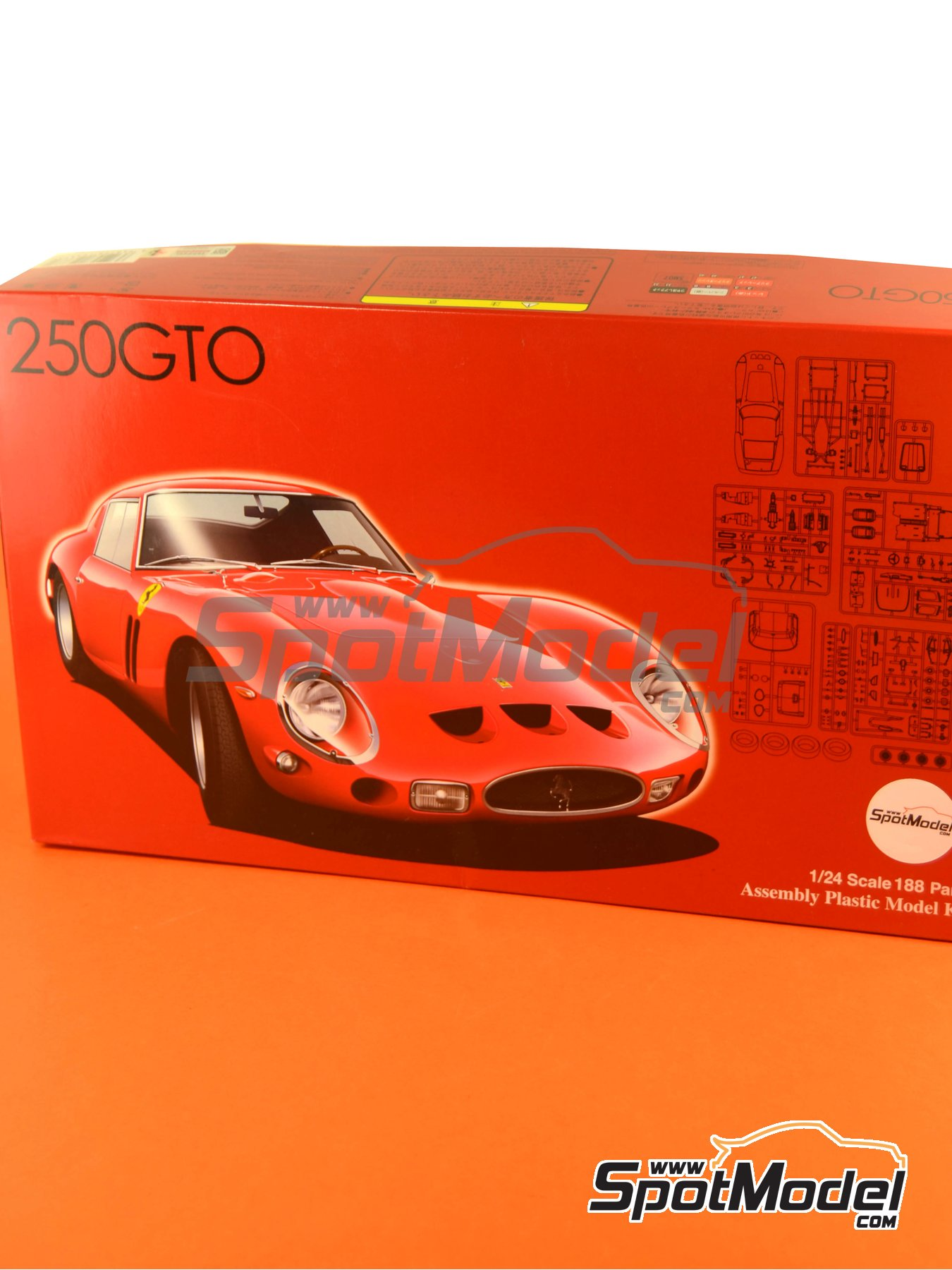 Ferrari 250 GTO | Model kit in 1/24 scale manufactured by Fujimi (ref.FJ123370, also 123370 and RS-35) image