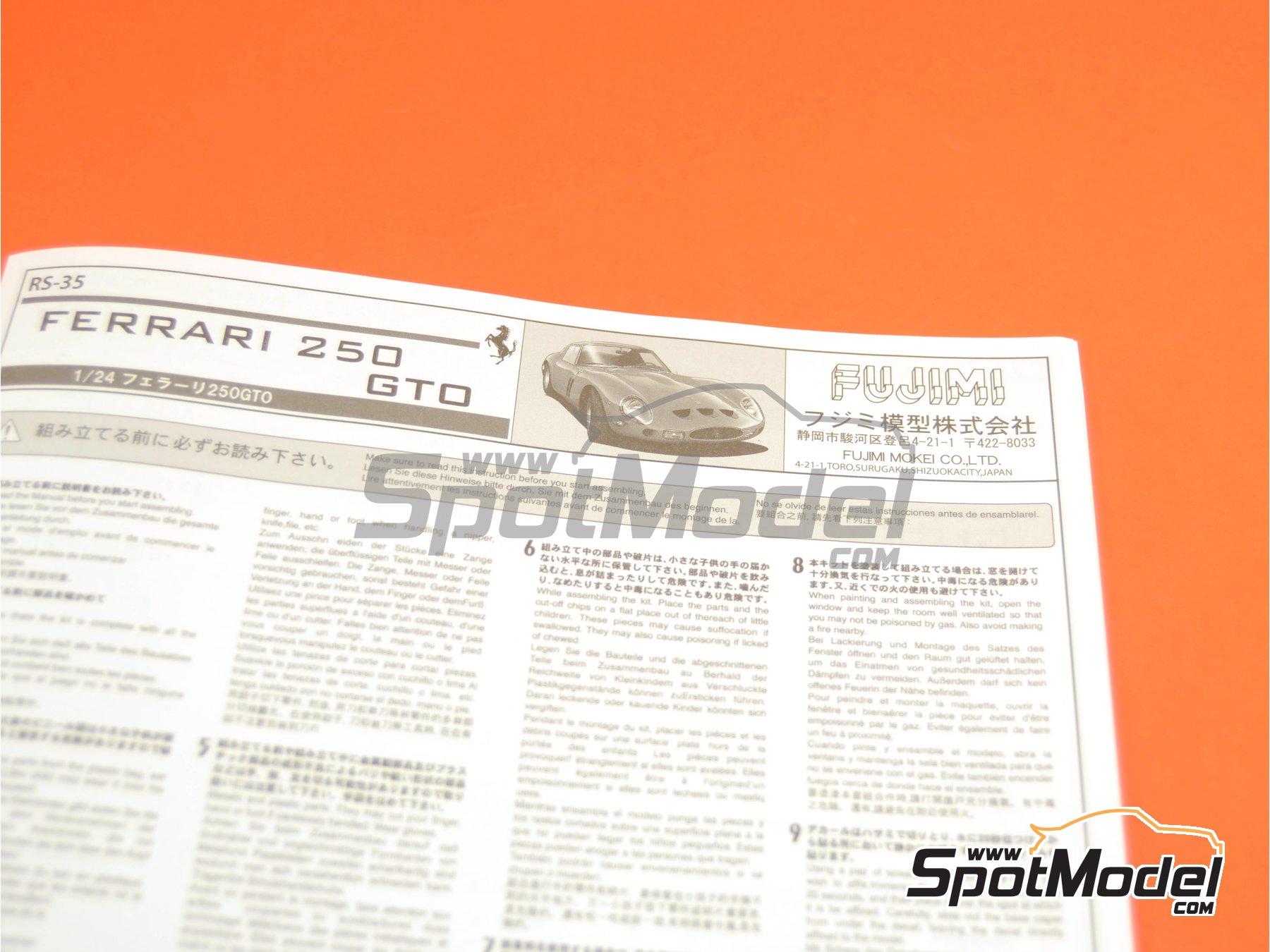 Image 13: Ferrari 250 GTO | Model kit in 1/24 scale manufactured by Fujimi (ref.FJ123370, also 123370 and RS-35)