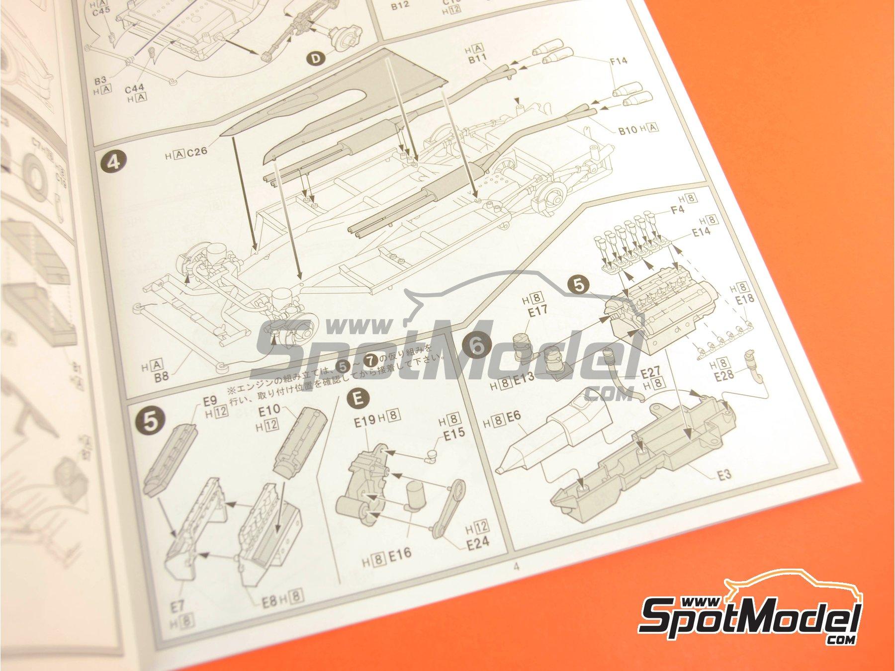 Image 14: Ferrari 250 GTO | Model kit in 1/24 scale manufactured by Fujimi (ref.FJ123370, also 123370 and RS-35)