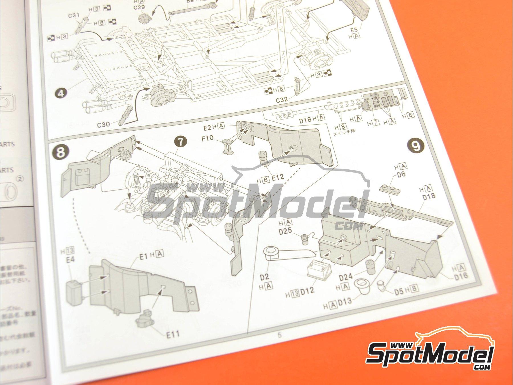 Image 16: Ferrari 250 GTO | Model kit in 1/24 scale manufactured by Fujimi (ref.FJ123370, also 123370 and RS-35)