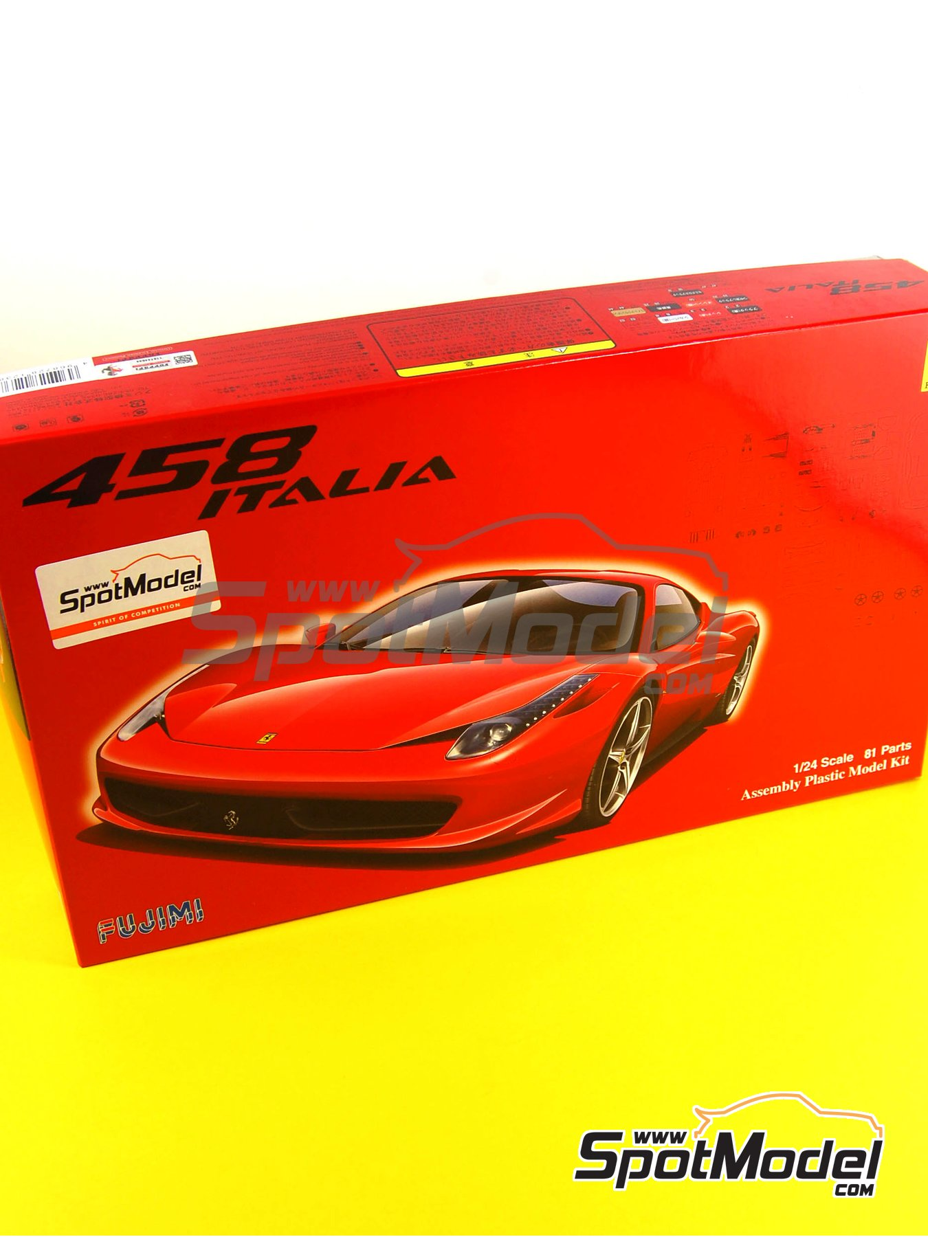 Ferrari 458 Italia | Model car kit in 1/24 scale manufactured by Fujimi (ref.FJ123820, also 123820 and RS-81) image