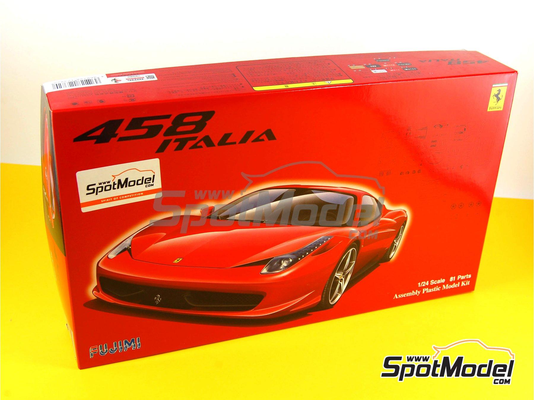 Image 11: Ferrari 458 Italia | Model car kit in 1/24 scale manufactured by Fujimi (ref.FJ123820, also 123820 and RS-81)