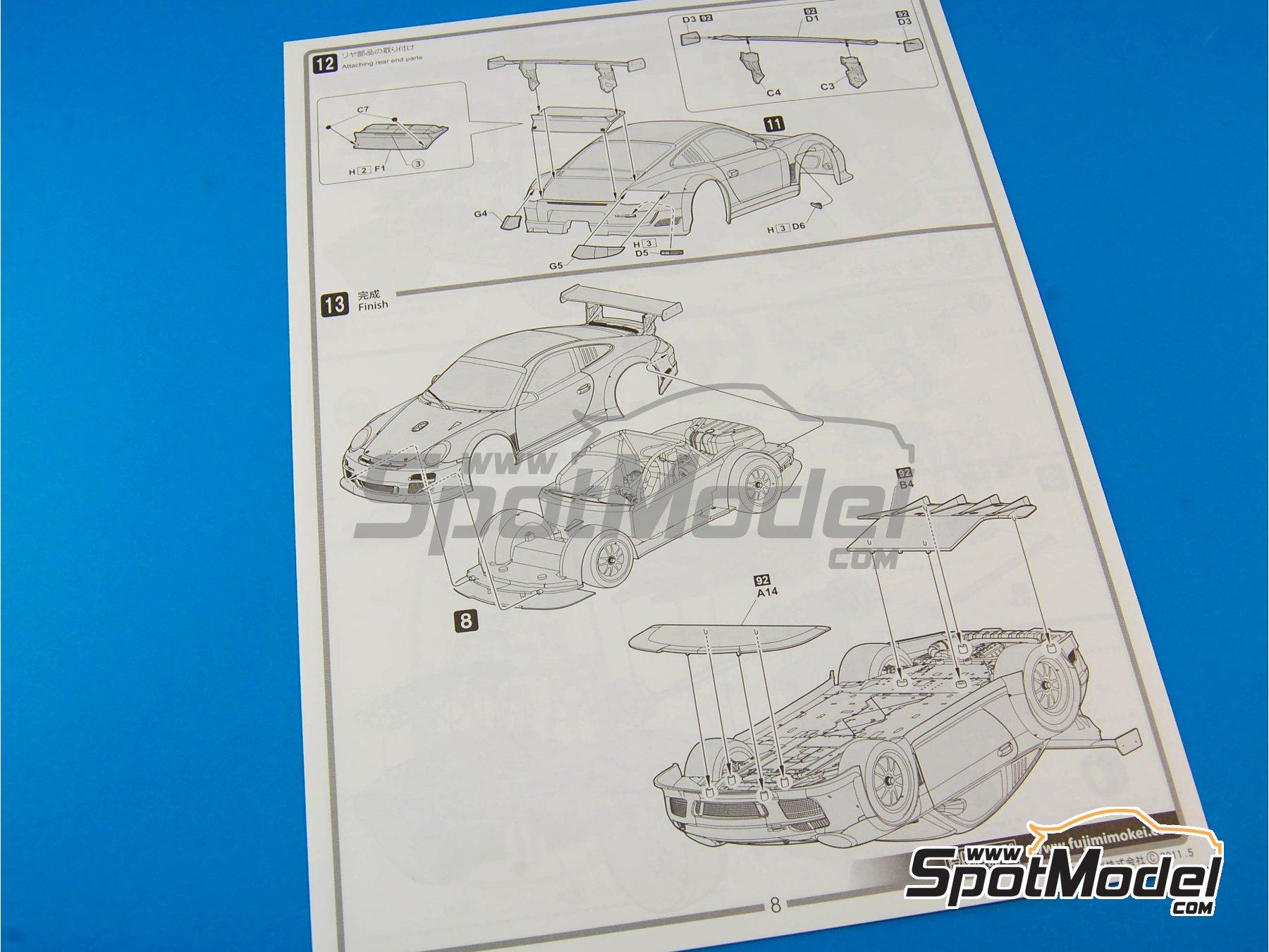 Image 5: Porsche 911 GT3R   Maqueta de coche en escala1/24 fabricado por Fujimi (ref.FJ123905, tambien 123905 y RS-85)