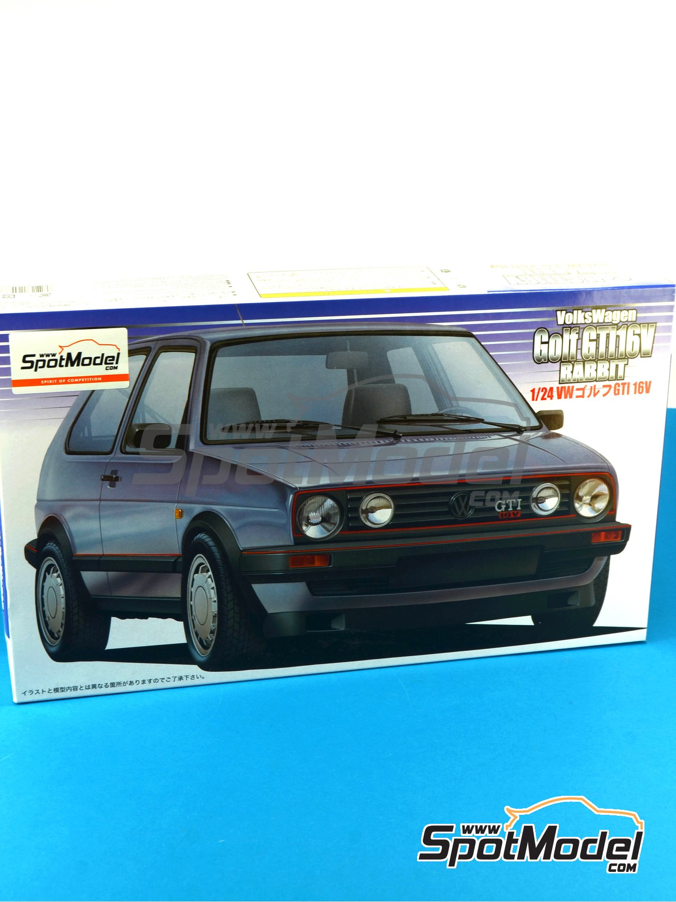 Volkswagen Golf II Gti 16v | Model car kit in 1/24 scale manufactured by Fujimi (ref.FJ12498, also 124988, 12498 and RS-18) image