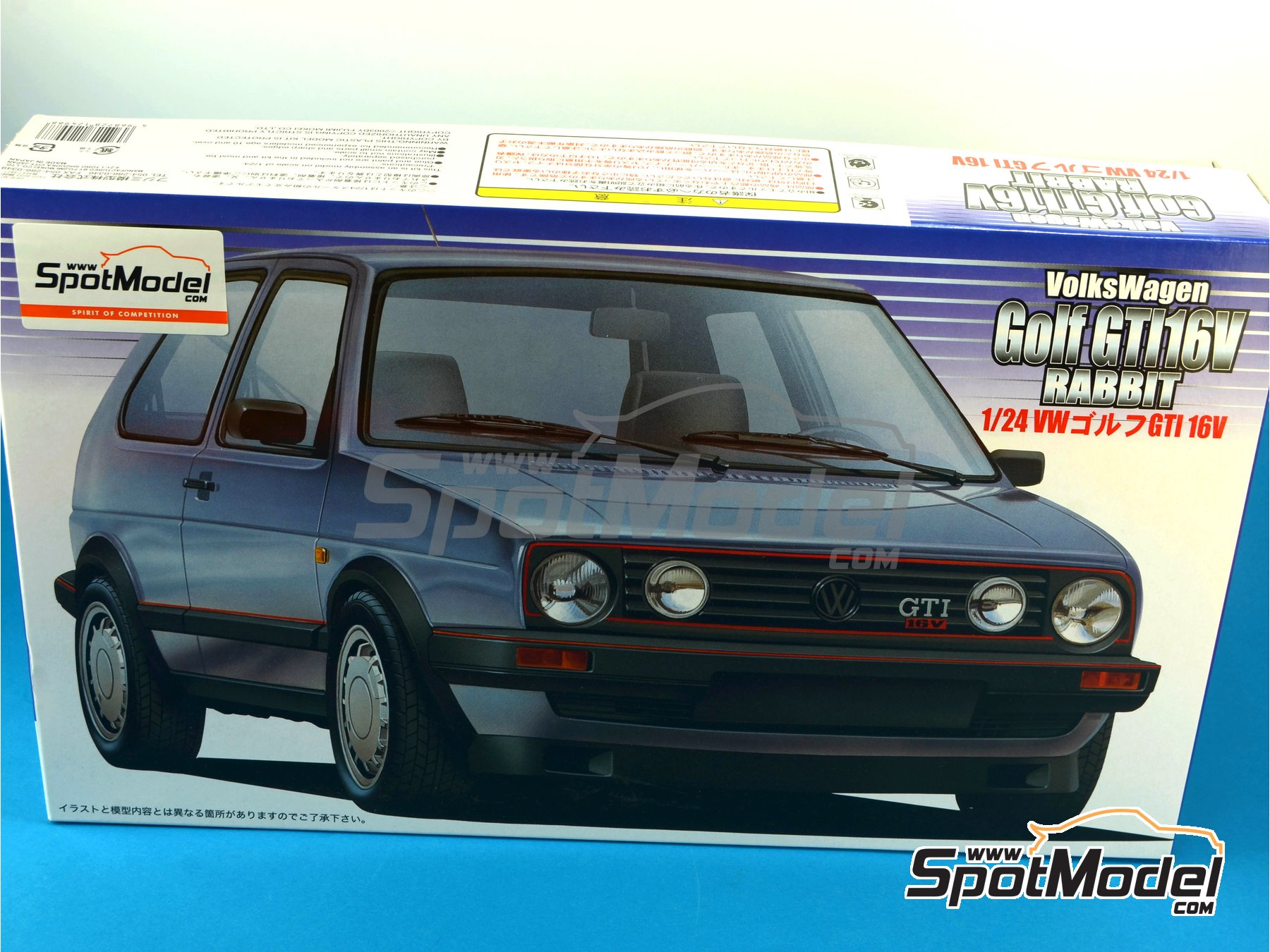 Image 1: Volkswagen Golf II Gti 16v | Model car kit in 1/24 scale manufactured by Fujimi (ref.FJ12498, also 124988, 12498 and RS-18)