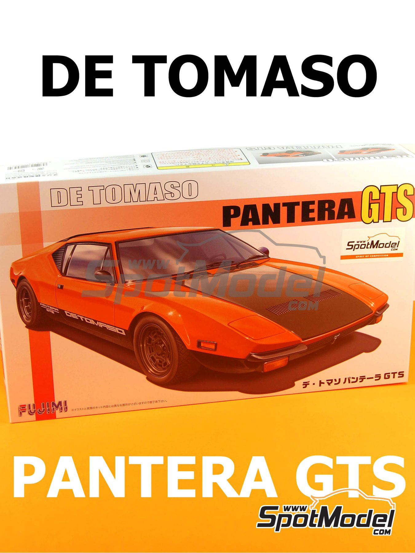 De Tomaso Pantera GTS | Model car kit in 1/24 scale manufactured by Fujimi (ref.FJ125534, also 125534 and RS-90) image