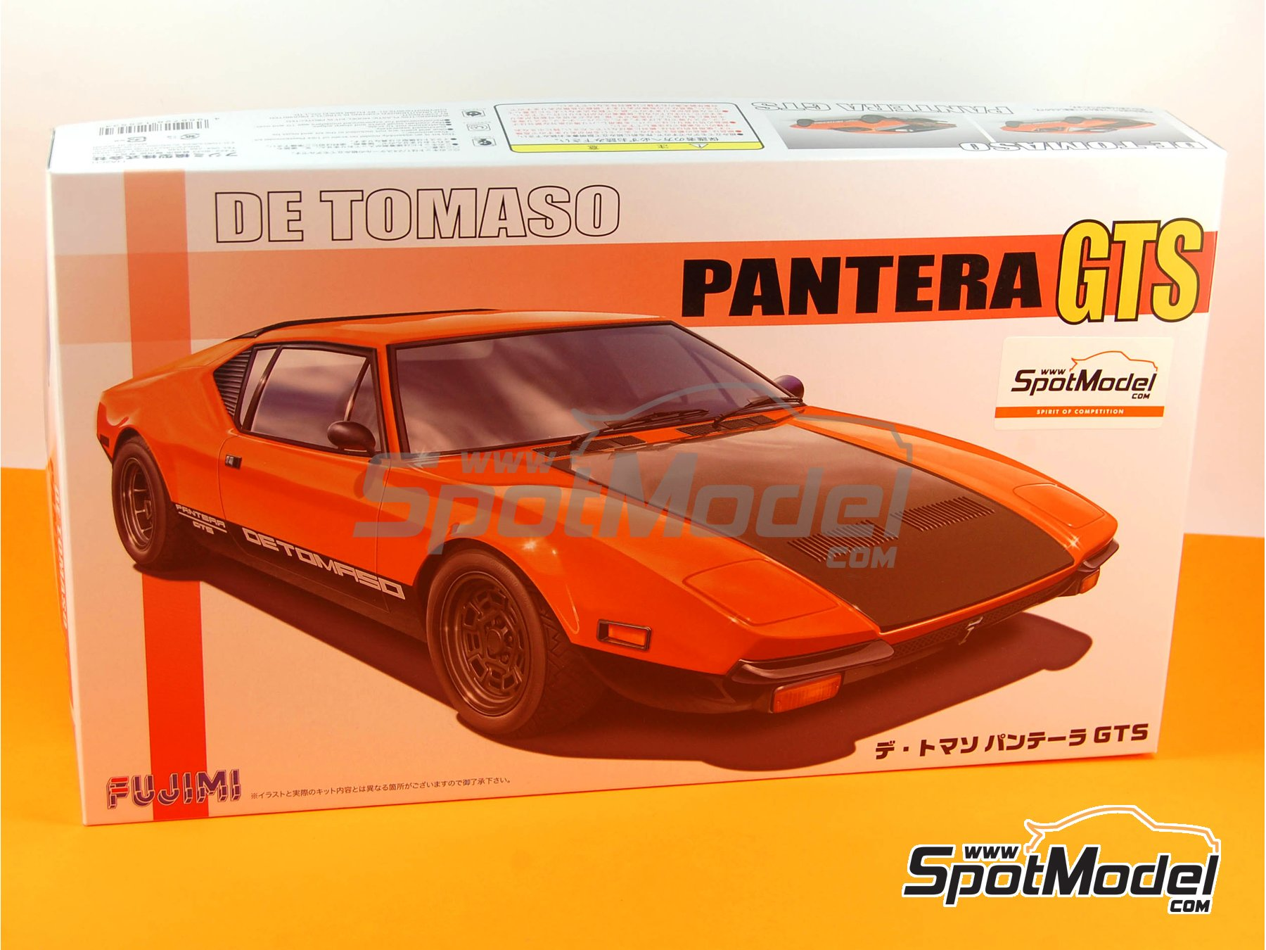 Image 11: De Tomaso Pantera GTS | Model car kit in 1/24 scale manufactured by Fujimi (ref.FJ125534, also 125534 and RS-90)