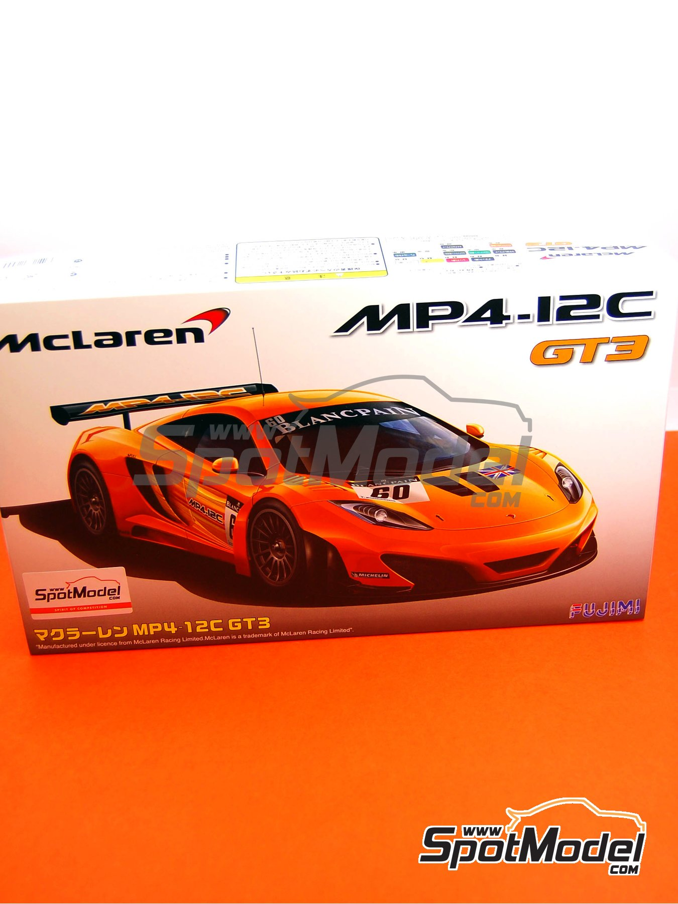 McLaren MP4-12C GT3 Blancpain - 24 Hours SPA Francorchamps 2011 | Model car kit in 1/24 scale manufactured by Fujimi (ref. FJ125558, also 125558 and RS-44) image