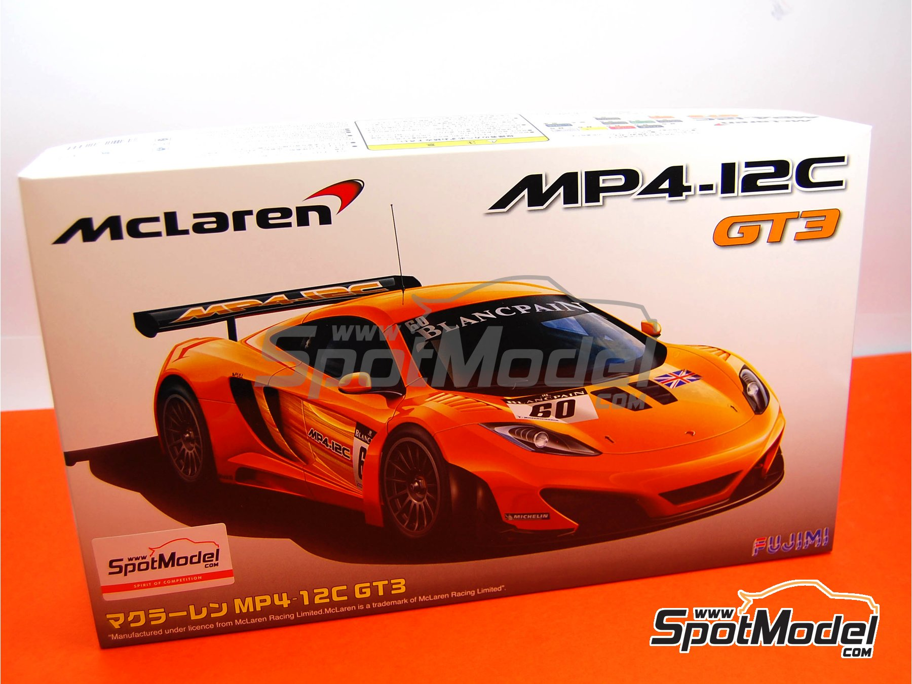 Image 1: McLaren MP4-12C GT3 Blancpain - 24 Hours SPA Francorchamps 2011 | Model car kit in 1/24 scale manufactured by Fujimi (ref. FJ125558, also 125558 and RS-44)