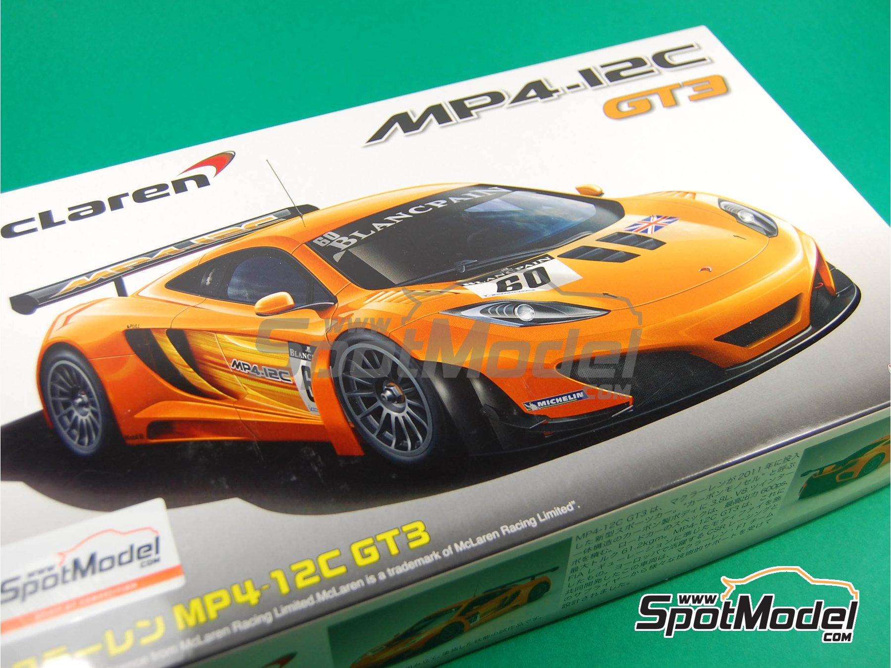 Image 2: McLaren MP4-12C GT3 Blancpain - 24 Hours SPA Francorchamps 2011 | Model car kit in 1/24 scale manufactured by Fujimi (ref. FJ125558, also 125558 and RS-44)