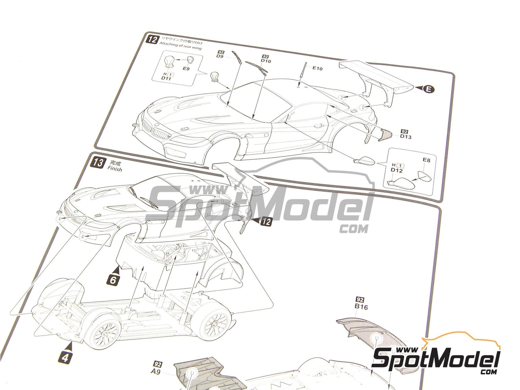 Image 4: BMW Z4 GT3 | Maqueta de coche en escala1/24 fabricado por Fujimi (ref.FJ125565, tambien 125565 y RS-31)