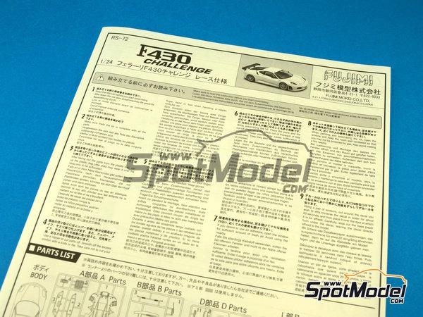 Image 1: Ferrari F430 Challenge | Model car kit in 1/24 scale manufactured by Fujimi (ref.FJ12560)