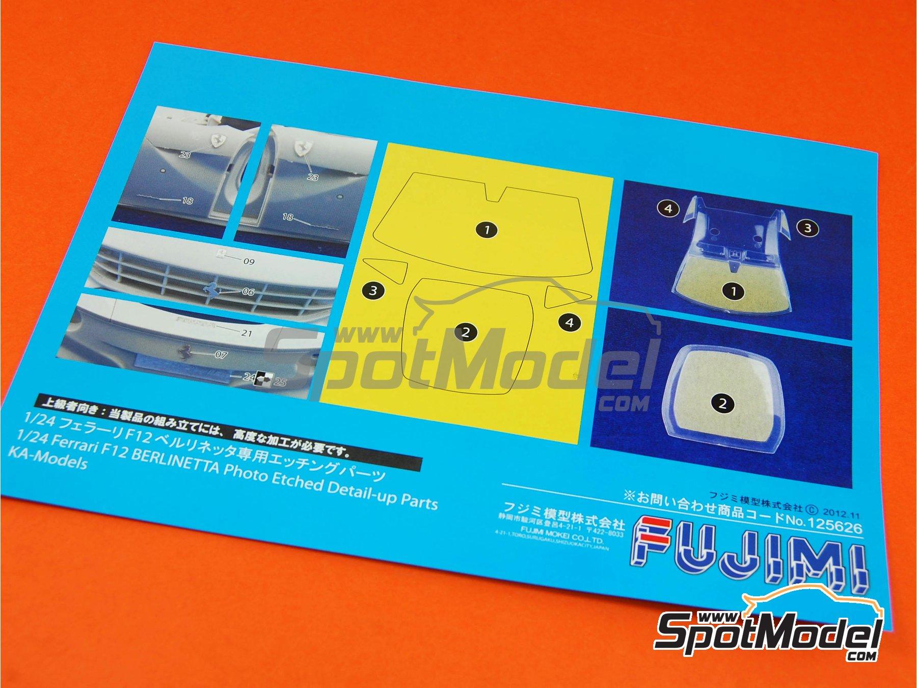 Image 14: Ferrari F12 Berlinetta | Model car kit in 1/24 scale manufactured by Fujimi (ref.FJ125626, also 125626 and RS-54)