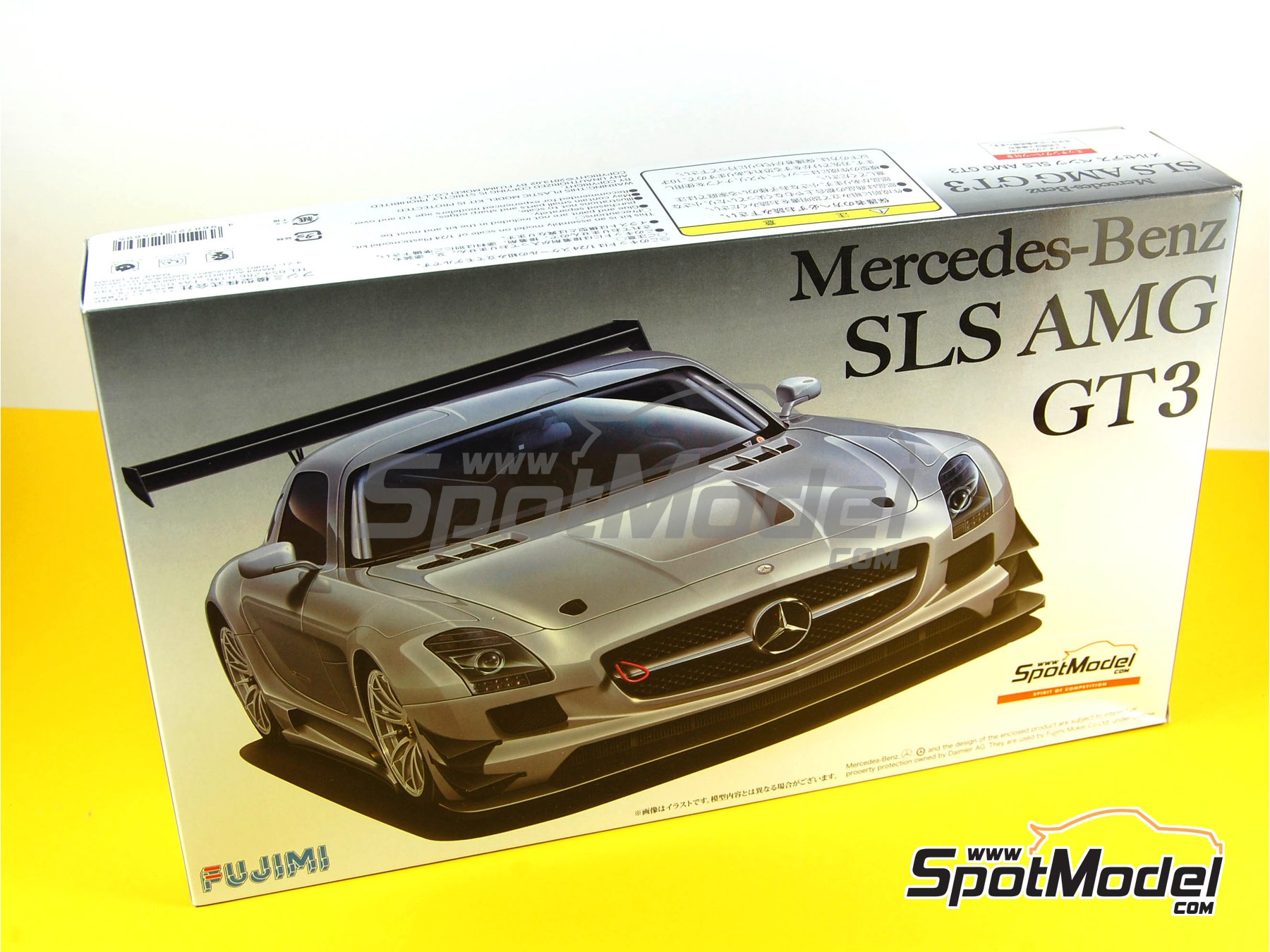 Image 16: Mercedes Benz SLS AMG GT3 | Model car kit in 1/24 scale manufactured by Fujimi (ref.FJ125695, also 125695 and RS-29)
