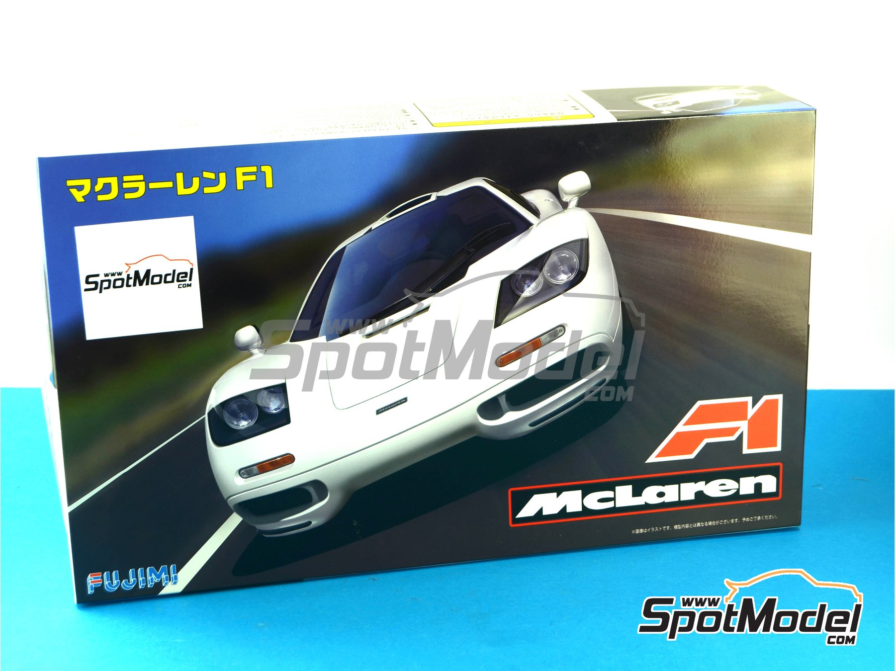 Image 15: McLaren F1 | Model car kit in 1/24 scale manufactured by Fujimi (ref.FJ12573, also 12573, RS-66 and 125732)