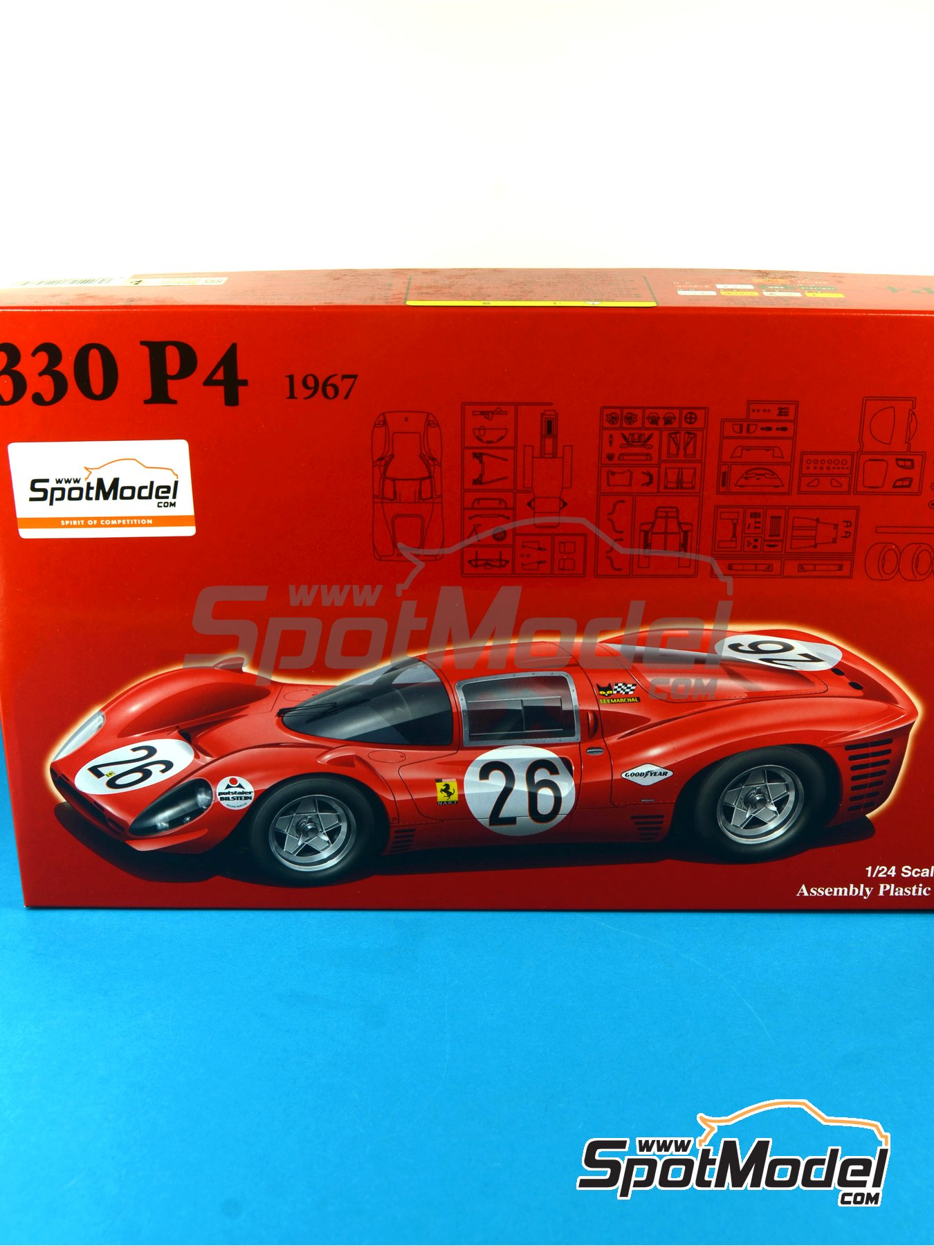 Ferrari 330 P4 SEV Marchal - 24 Hours Daytona 1967 | Model car kit in 1/24 scale manufactured by Fujimi (ref. FJ125756) image