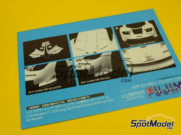 Image 9: McLaren F1 GTR Long Tail Lark - 24 Hours Le Mans 1997 | Model car kit in 1/24 scale manufactured by Fujimi (ref.FJ12579)