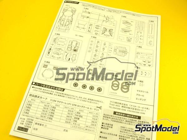 Image 13: McLaren F1 GTR Long Tail Lark - 24 Hours Le Mans 1997 | Model car kit in 1/24 scale manufactured by Fujimi (ref.FJ12579)