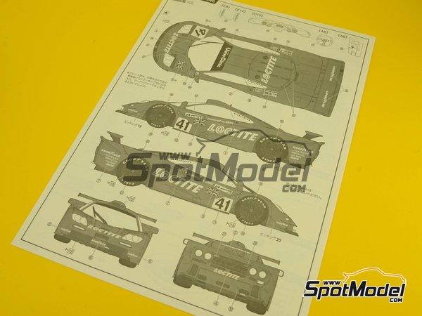 Image 12: McLaren F1 GTR Long Tail - Cola larga Loctite - 24 Horas de Le Mans | Maqueta de coche en escala1/24 fabricado por Fujimi (ref.FJ12580)