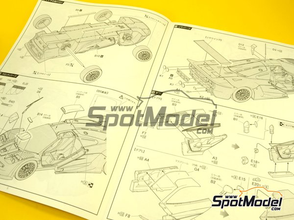 Image 15: McLaren F1 GTR Long Tail - Cola larga Loctite - 24 Horas de Le Mans | Maqueta de coche en escala1/24 fabricado por Fujimi (ref.FJ12580)