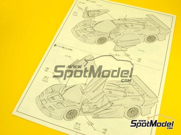 Image 16: McLaren F1 GTR Long Tail - Cola larga Loctite - 24 Horas de Le Mans | Maqueta de coche en escala1/24 fabricado por Fujimi (ref.FJ12580)