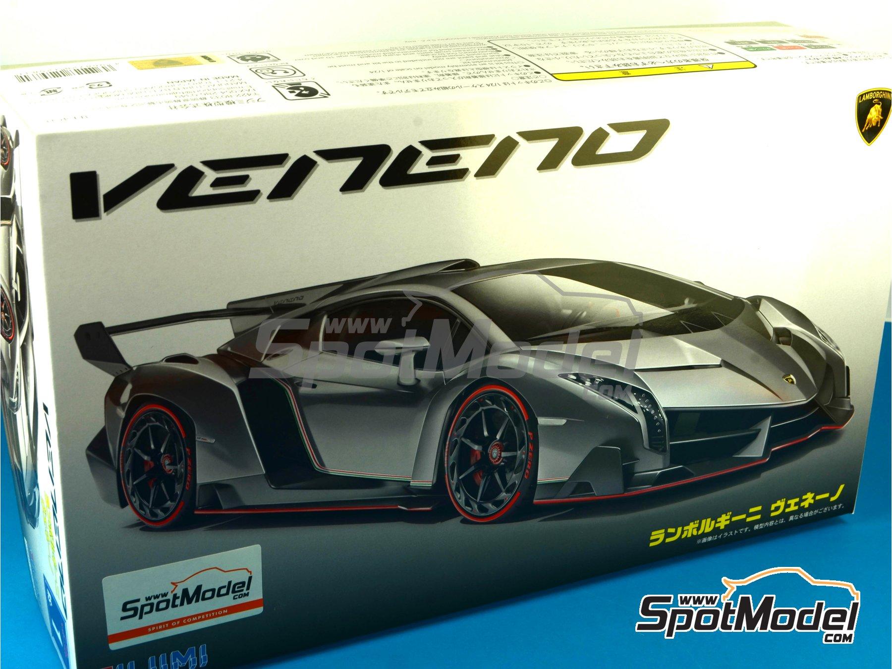 Image 18: Lamborghini Veneno | Maqueta de coche en escala1/24 fabricado por Fujimi (ref.FJ12583, tambien 125831, 12583, RS-01 y RS-1)