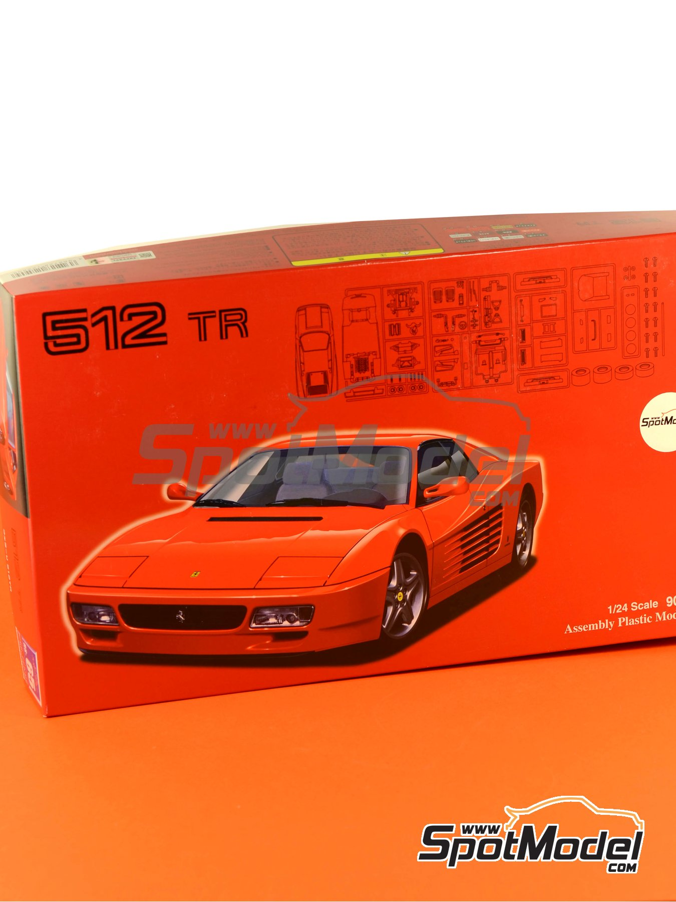 Ferrari 512TR | Model car kit in 1/24 scale manufactured by Fujimi (ref. FJ125909, also 125909 and RS-65) image
