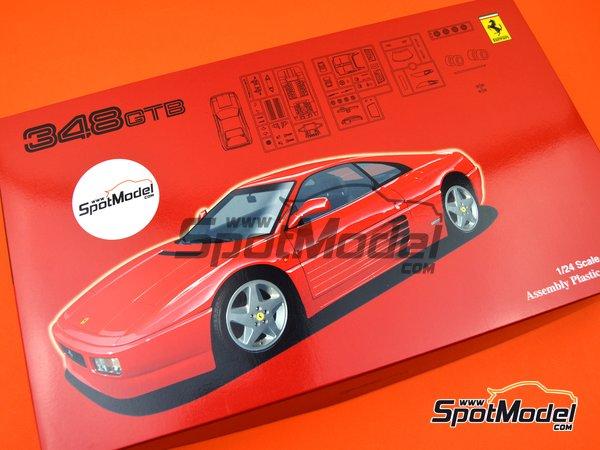 Image 9: Ferrari 348GTB | Model car kit in 1/24 scale manufactured by Fujimi (ref.FJ125916, also 125916, 12591 and RS-69)