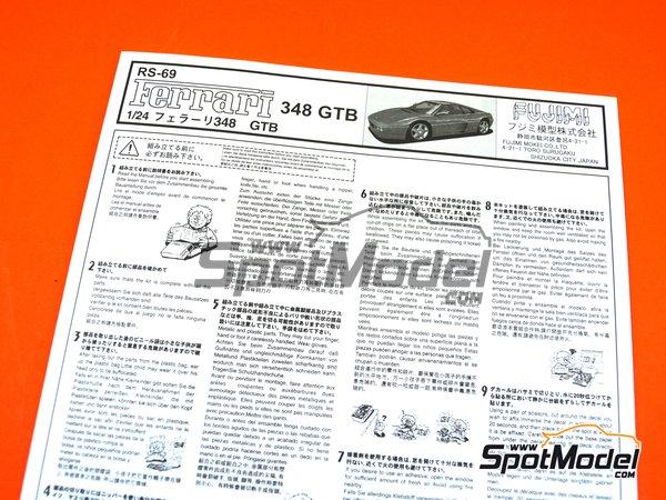 Image 10: Ferrari 348GTB | Model car kit in 1/24 scale manufactured by Fujimi (ref.FJ125916, also 125916, 12591 and RS-69)