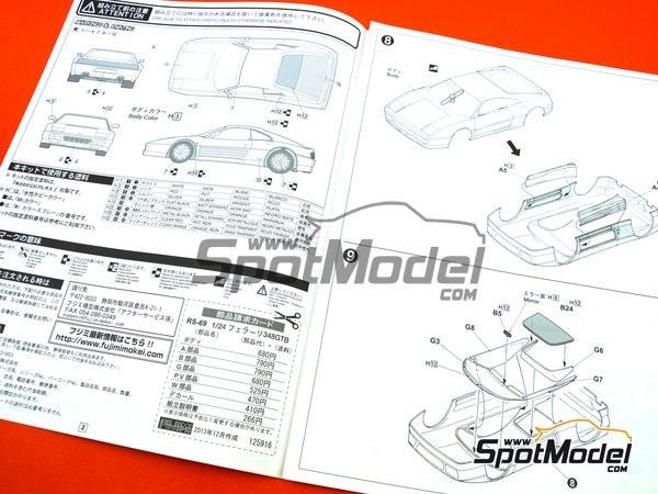 Image 11: Ferrari 348GTB | Model car kit in 1/24 scale manufactured by Fujimi (ref.FJ125916, also 125916, 12591 and RS-69)